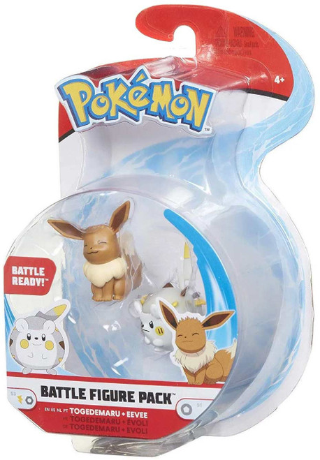 Pokemon Series 3 Battle Figure Togedemaru & Eevee 2-Inch Mini Figure 2-Pack