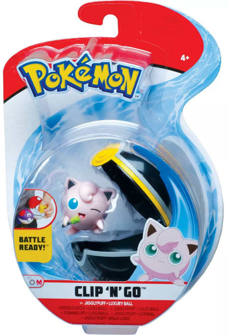 Pokemon Clip 'N' Go Jigglypuff & Luxury Ball Figure Set