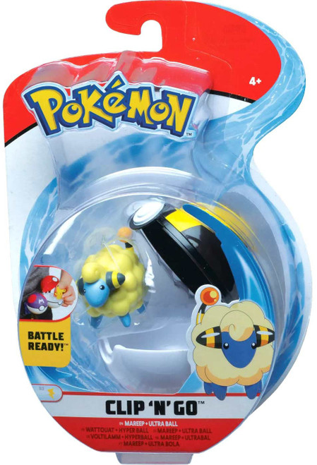 Pokemon Clip 'N' Go Mareep & Ultra Ball Figure Set