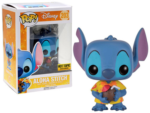 Funko Lilo & Stitch POP! Disney Aloha Stitch Exclusive Vinyl Figure #203 [Damaged Package]