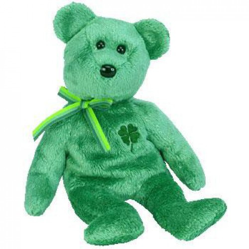 Beanie Babies Dublin the Irish Bear Beanie Baby Plush
