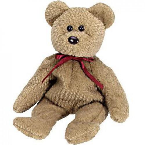 Beanie Babies Curly the Bear Beanie Baby Plush
