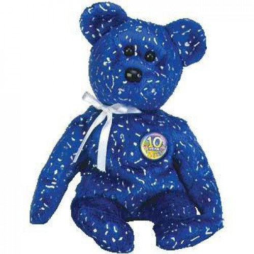 Beanie Babies Decades Decade the Bear Beanie Baby Plush [Royal Blue]