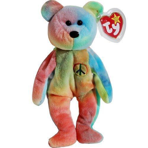 Beanie Babies Peace the Tye Dye Bear Beanie Baby Plush