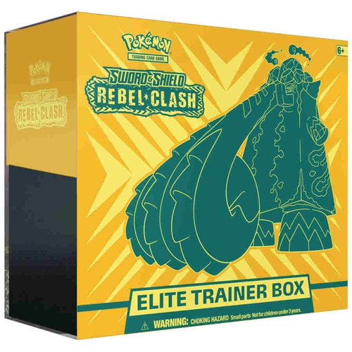 Pokemon Trading Card Game Sword & Shield Rebel Clash Copperajah Elite Trainer Box [8 Booster Packs, 65 Card Sleeves, 45 Energy Cards & More]