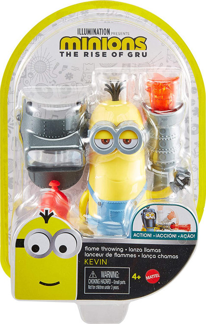Minions Rise of Gru Flame Throwing Kevin Action Figure