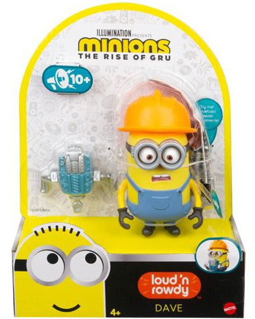 Minions Rise of Gru Loud 'n Rowdy Dave Action Figure