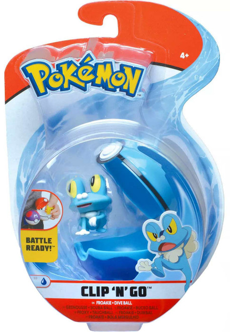 Pokemon Clip 'N' Go Froakie & Dive Ball Figure Set