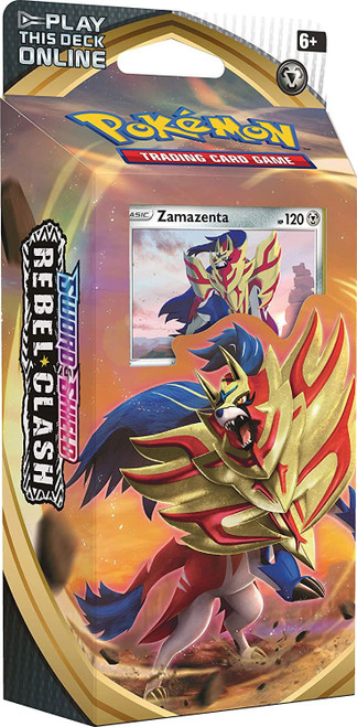 Pokemon Trading Card Game Sword & Shield Rebel Clash Zamazenta Theme Deck