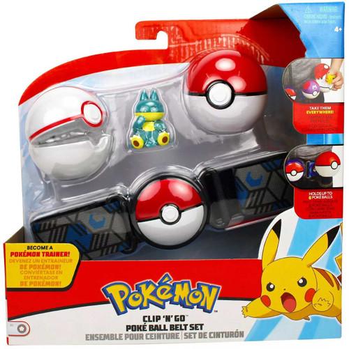 Pokemon Munchlax with Premier Ball & Poke Ball Clip 'N' Go Poke Ball Belt Set