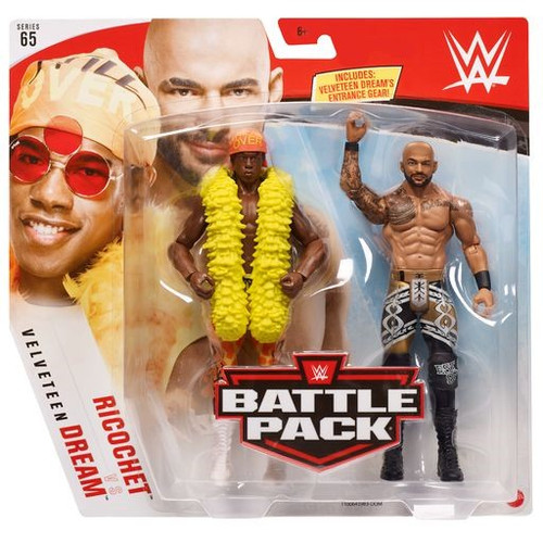 WWE Wrestling Battle Pack Series 65 Ricochet & Velveteen Dream Action Figure 2-Pack