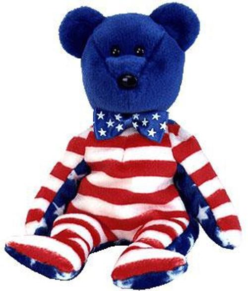 Beanie Babies Liberty the USA Bear Exclusive Beanie Baby Plush [Blue Face]