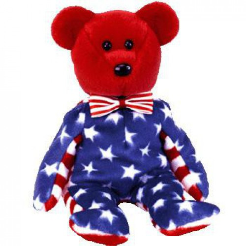 Beanie Babies Liberty the USA Bear Exclusive Beanie Baby Plush [Red Face]