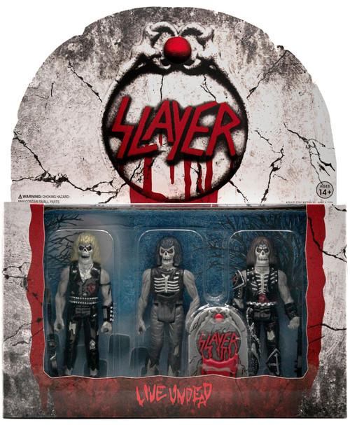 ReAction Slayer Live Undead 3 Pack Action Figures