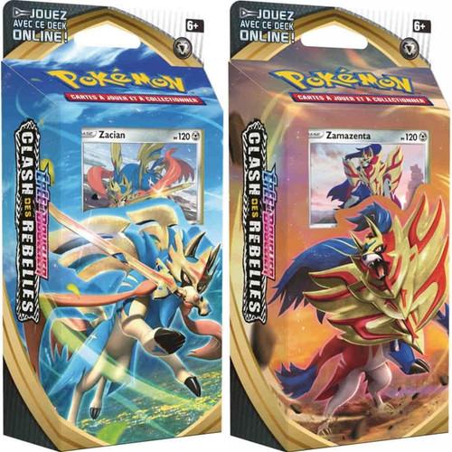 Pokemon Trading Card Game Sword & Shield Rebel Clash Zamazenta & Zacian Set of Both Theme Decks