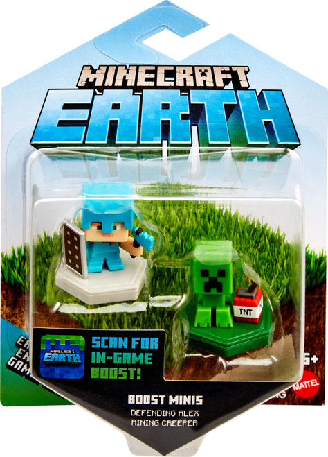Minecraft Earth Boost Minis Pigging Out Pig /& Undying Evoker Figure 2-Pack