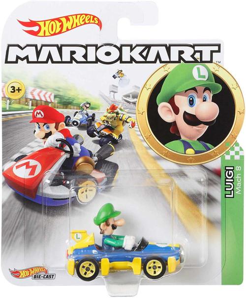 Hot Wheels Mario Kart Luigi Diecast Car [Mach 8]