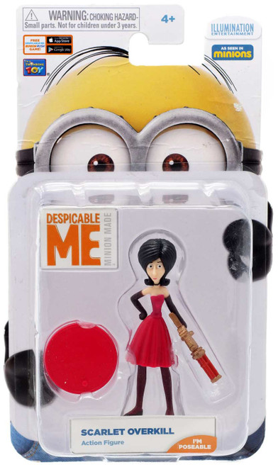 Despicable Me Minion Made Scarlet Overkill Action FIgure