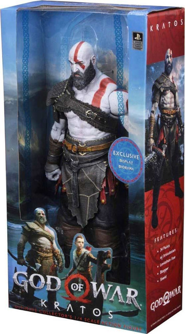 NECA God of War Quarter Scale Kratos Exclusive Action Figure [Exclusive Display Diorama]