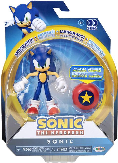 Sonic The Hedgehog Basic Wave 1 Modern Sonic & Star Spring Action Figure