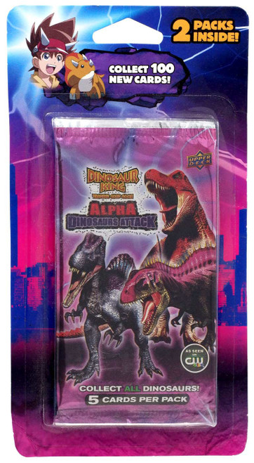 Dinosaur King Trading Card Game Alpha Dinosaurs Attack Booster 2-Pack [10 Cards]