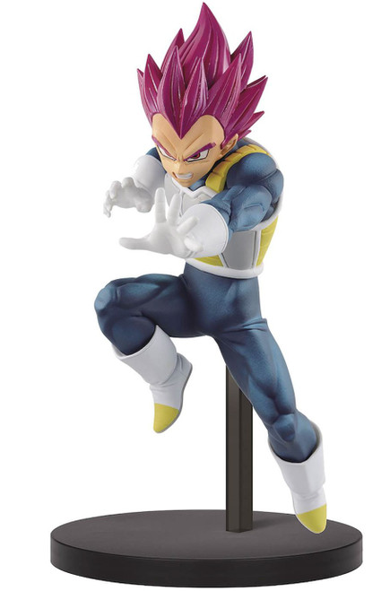 Dragon Ball Z: Buyu Retsuden Chosenshiretsuden II Super Saiyan God Vegeta 7-Inch Collectible PVC Figure (Pre-Order ships January)