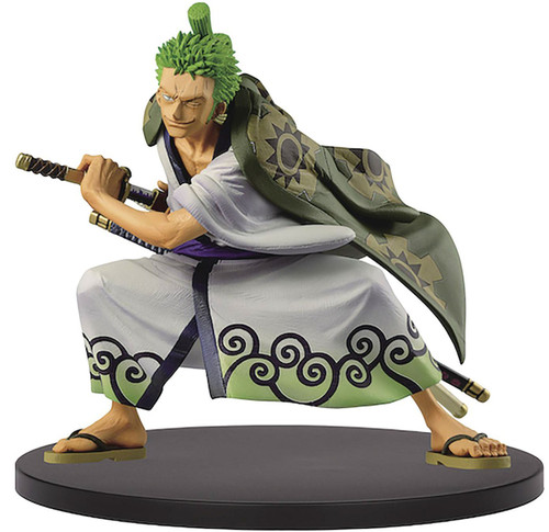 One Piece King of Artist Roronoa Zoro 5.5-Inch Collectible PVC Figure [Wano Country] (Pre-Order ships November)