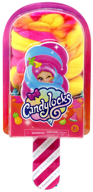 Candylocks Popsicle Orange, Pink & Yellow Mystery Doll