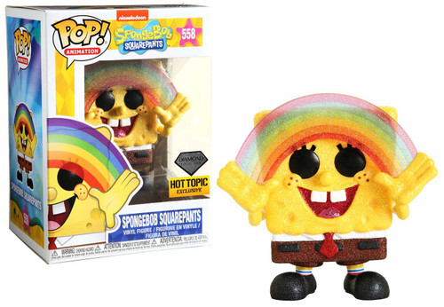 Funko POP! Animation Spongebob Squarepants Exclusive Vinyl Figure #558 [Rainbow, Diamond Collection]