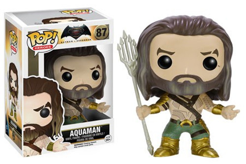 Funko DC Batman v Superman: Dawn of Justice POP! Movies Aquaman Vinyl Figure #87 [Dawn of Justice, Damaged Package]