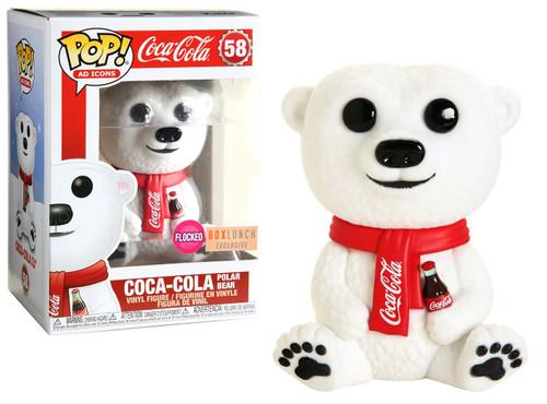 Funko Coca-Cola POP! Ad Icons Polar Bear Exclusive Vinyl Figure #58 [Flocked]
