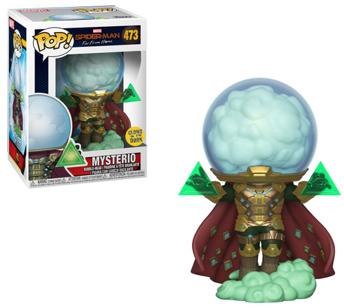 Funko Spider-Man Far From Home POP! Marvel Mysterio Exclusive Vinyl Figure [Glow-in-the-Dark, Damaged Package]
