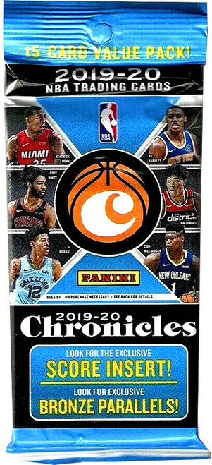 NBA Panini 2019-20 Chronicles Basketball Trading Card VALUE Pack [15 Cards]