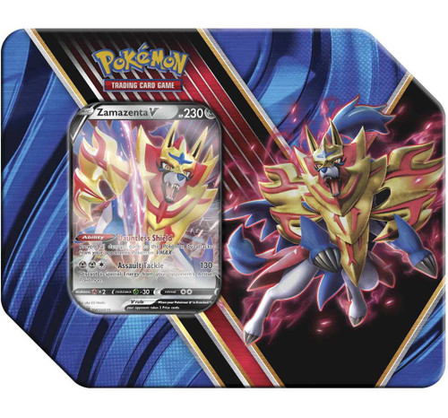 Pokemon Trading Card Game Legends of Galar Zamazenta V Tin [5 Booster Packs & Promo Card!]