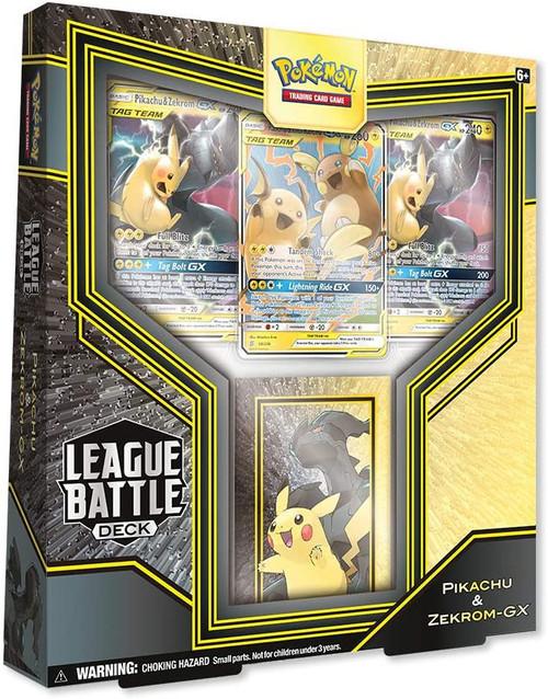 Pokemon Trading Card Game Pikachu & Zekrom GX League Battle Deck [60-Card Deck, 3 GX Cards, Deck Box & More]
