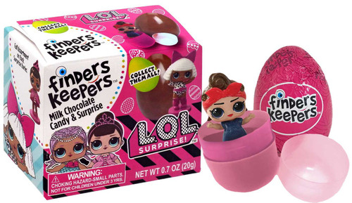 LOL Surprise Finders Keepers Milk Chocolate Egg Candy & Toy Surprise Mystery Pack [2020]