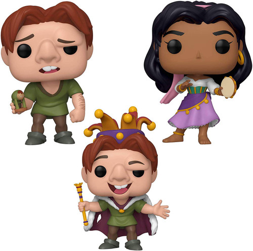 Funko The Hunchback of Notre Dame POP! Disney Quasimodo, Quasimodo Fool & Esmerelda Vinyl Figure [Set of 3]