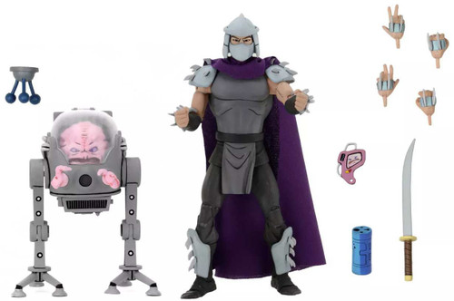 NECA Teenage Mutant Ninja Turtles Shredder & Krang Exclusive Action Figure 2-Pack