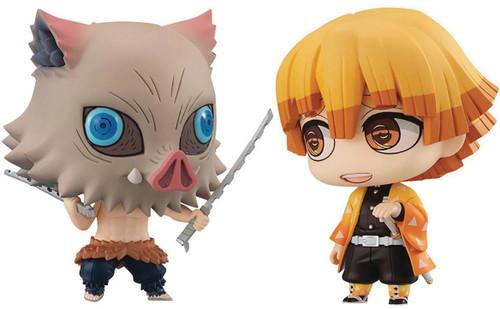 Demon Slayer: Kimetsu no Yaiba Chimi Mega Buddy Zenitsu & Inoskue 8-Inch Collectible PVC Figures