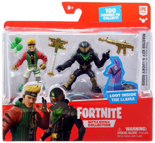 Fortnite Epic Games Battle Royale Collection Master Key & Lucky Rider 2-Inch Mini Figure 2-Pack