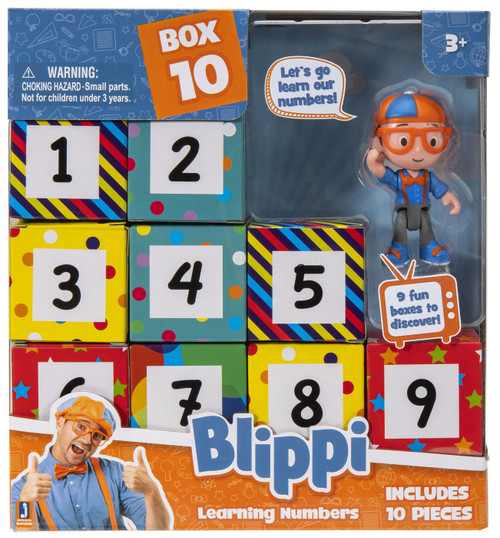 Blippi Surprise Learning Numbers Mystery 10-Pack
