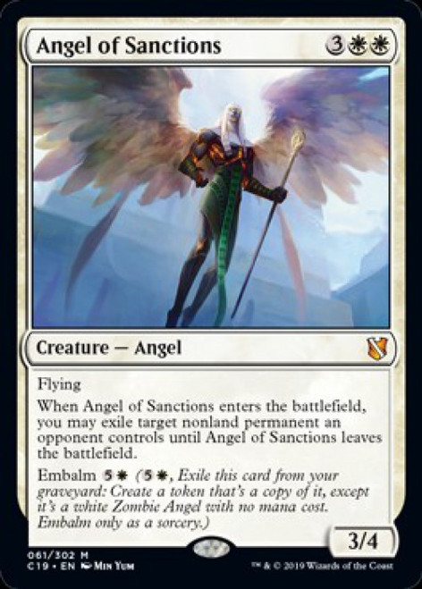 MtG 2019 Commander Mythic Rare Angel of Sanctions #61