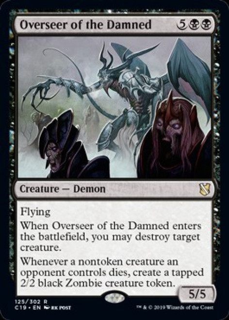 MtG 2019 Commander Rare Overseer of the Damned #125