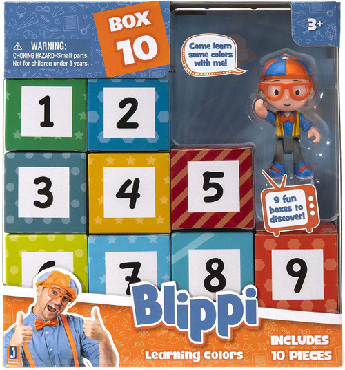 Blippi Surprise Learning Colors Mystery 10-Pack