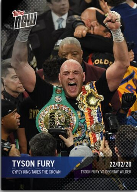 Topps Now Tyson Fury Limited to 628! Single Sports Card [Gypsy King Takes the Crown ]