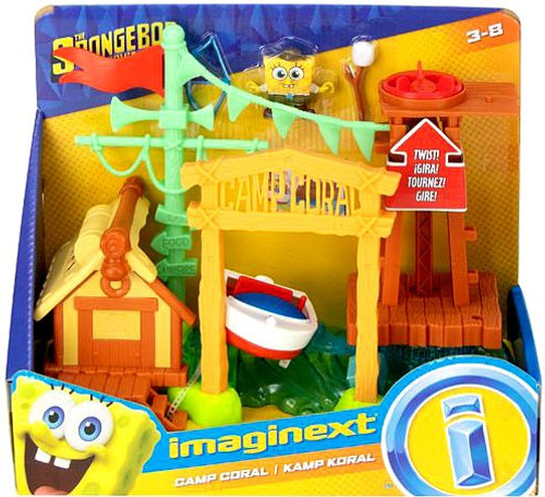 Fisher Price Spongebob Squarepants Imaginext Camp Coral Playset