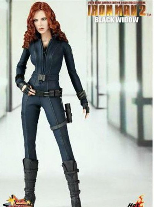 Iron Man 2 Movie Masterpiece Black Widow Collectible Figure [Damaged Package]