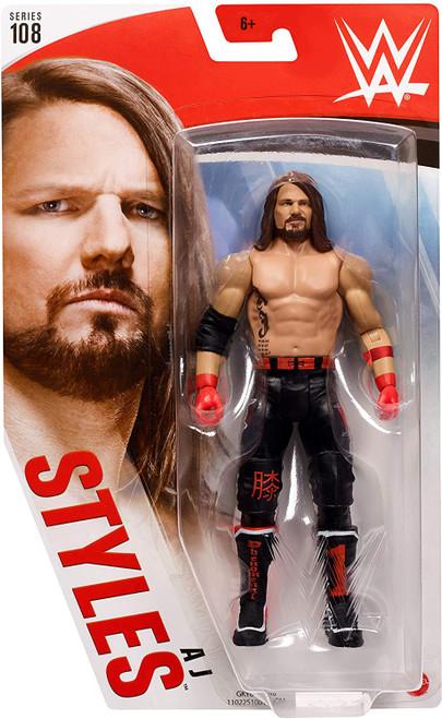 WWE Wrestling Series 108 AJ Styles Action Figure