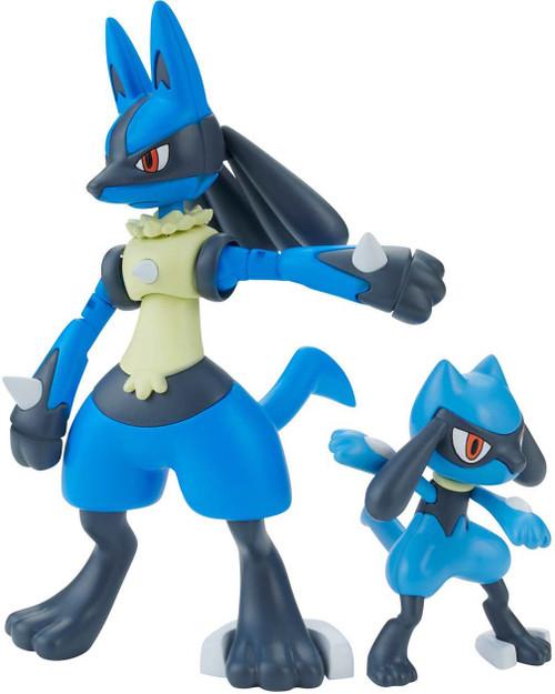 Pokemon Bandai Spirits Riolu & Lucario 4.75-Inch Model Kit