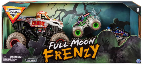 Monster Jam Full Moon Frenzy Exclusive Diecast Car 3-Pack [Zombie with Grave Digger & Son-Uva Digger]
